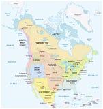 Die traditionellen kulturellen Bereiche des Nordamerikaners einheimisch lizenzfreie abbildung