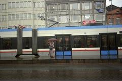 Die Trams in Istanbul Stockfotos