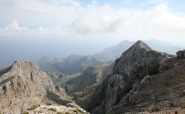 Die Tramuntana-Strecke vom Puig-Major, Mallorca, Spanien Lizenzfreie Stockfotos