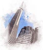 Die Transamerica-Pyramide in San Francisco, Kalifornien - USA Lizenzfreies Stockfoto