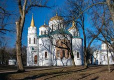 Die die Transfigurations-Kathedrale des Retters in Chernigiv, Ukraine stockfotos