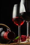Die Traube und der Wein Stockbilder