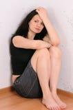 Die traurige Frau stockbild