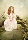 Die traurige Prinzessin Stockbilder