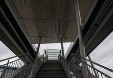Die Treppe in einer Stadt Wolfsburg, Deutschland Stockbild