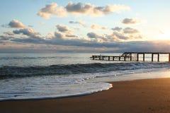 Die Türkei. Antalya. Sonnenuntergang Lizenzfreies Stockfoto