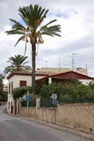 Die typische Straße in Aegina-Insel Stockbild