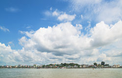 Die Ufergegend von Myeik, Myanmar Stockbilder