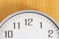 Die Uhr auf der Wand Lizenzfreie Stockfotografie