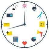 Die Uhr des Marketingspezialisten Stockbilder