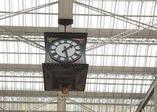 Die Uhr von Glasgow Central-Bahnstation Stockbild