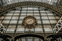 Die Uhr von Musee d'Orsay Lizenzfreie Stockfotos