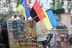 Die ukrainischen Andenken auf Maidan Kiew Ukraine Lizenzfreies Stockfoto