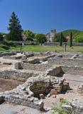 Die umfangreichen römischen Ruinen an der Vaison-La-Sommerendivie, Provence, Frankreich Stockfoto