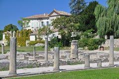 Die umfangreichen römischen Ruinen an der Vaison-La-Sommerendivie, Provence, Frankreich Lizenzfreies Stockbild