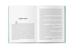 Die Umkehrung des Kataloges in der Größe A4 Lizenzfreie Stockfotos