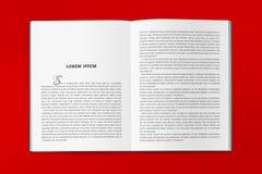 Die Umkehrung des Kataloges in der Größe A4 Lizenzfreie Stockfotografie