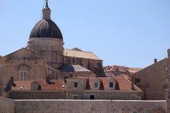 Die ummauerte Stadt von Dubrovnic in Kroatien Europa ist es eins der herrlichsten Fremdenverkehrsorts vom Mittelmeer Stockbild