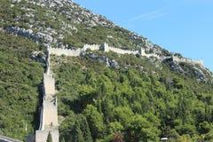 Die ummauerte Stadt von Ston, Kroatien Lizenzfreie Stockfotos