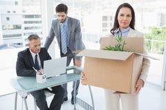 Die unglückliche Geschäftsfrau, die ist, ließ gehen Lizenzfreies Stockfoto