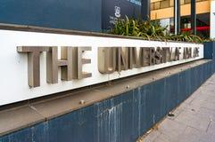 Die Universität von Adelaide-Zeichen Stockbilder