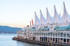 Die unterscheidenden Segel an Kanada-Platz, Vancouve stockfoto