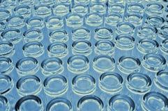 Die Unterseite der Glasschale Stockfoto