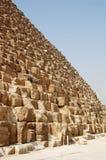 Die Unterseite der großen Pyramide. Stockbild