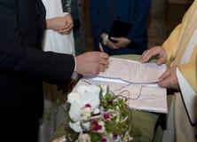 Die Unterzeichnung Lizenzfreie Stockbilder