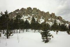 Die Ural Berge Nationalpark Taganay Die Kante Otkliknoi 1155 m Lizenzfreies Stockbild