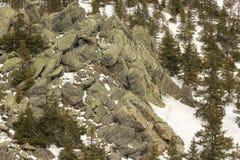 Die Ural Berge Nationalpark Taganay Tscheljabinsk-Bezirk, Russland Stockfotografie