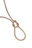 Die ursprüngliche Schleife gemacht vom starken Seil für das Hängen. Stockfotografie