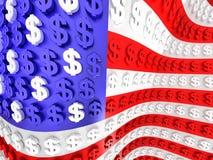 Die USA-Markierungsfahne Lizenzfreies Stockbild