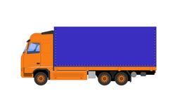 Die Vektorillustration des LKWs Stockbild