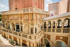Die venetianische Hotel- und Kasinoansicht von Architekturdetails Stockbild