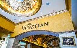 Die venetianische Hotel- und Kasinolobby Stockfoto