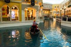 Die venetianische Las Vegas-Gondel-Fahrt Stockfotografie
