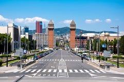 Die venetianischen Türme. Barcelona. lizenzfreie stockfotos