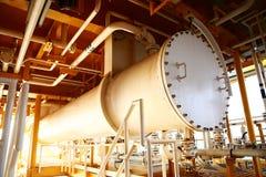 Die Ventile, die im Prozess manuell sind, Produktionsverfahren benutzten manuelles Ventil, um das System-, schmutzige oder altema lizenzfreie stockbilder