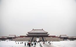 Die Verbotene Stadt im Winter, Peking 2013 lizenzfreie stockbilder