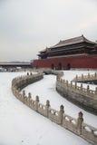 Die Verbotene Stadt im Winter, Peking 2013 stockbild