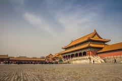 Die Verbotene Stadt in Peking China Stockbilder