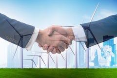 Die Vereinbarung über Klimawandelkonzept stockbild