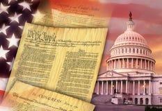 Die Vereinigten Staaten von Amerika - patriotische Symbole Lizenzfreies Stockbild