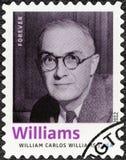DIE VEREINIGTEN STAATEN VON AMERIKA - 2012: Shows William Carlos Williams 1883-1963, amerikanischer Dichter, Autor, Reihe Nobelpr Lizenzfreie Stockbilder