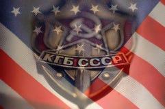 Die Vereinigten Staaten von Amerika und Russland Lizenzfreies Stockfoto