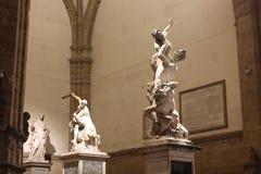 Die Vergewaltigung der Sabine- und Herkules- und Nessus-Skulpturen Lizenzfreies Stockfoto