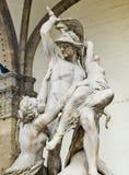 Die Vergewaltigung von Polyxena-Skulptur in Loggia della Signoria. Florenc Stockbild