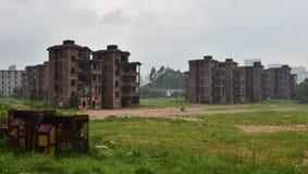 Die verlassenen Gebäude stockbild