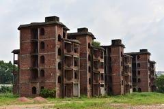 Die verlassenen Gebäude Stockfotos